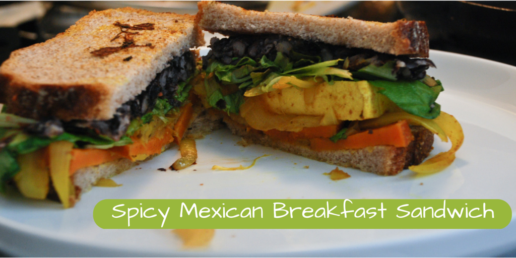 Spicy Mexican Breakfast Sandwich